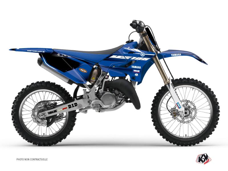 Yamaha 125 YZ Dirt Bike Basik Graphic Kit Blue