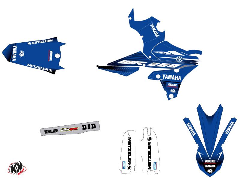 Yamaha 250 WRF Dirt Bike Basik Graphic Kit Blue LIGHT