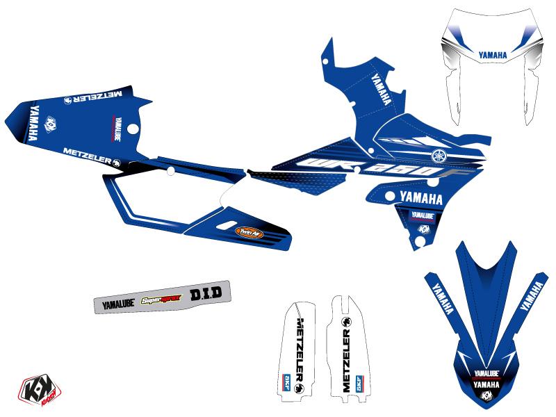 Yamaha 250 WRF Dirt Bike Basik Graphic Kit Blue