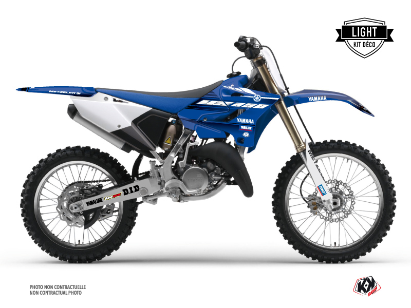 Yamaha 250 YZ Dirt Bike Basik Graphic Kit Blue LIGHT