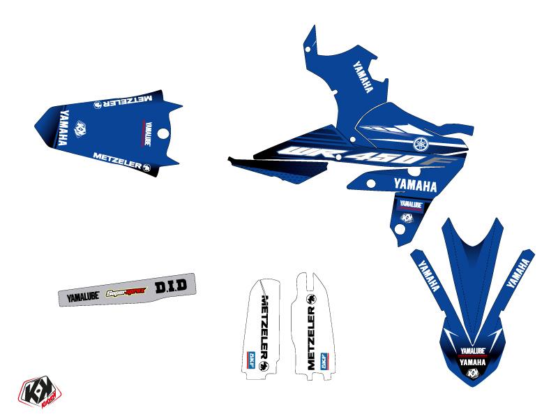 Kit Déco Moto Cross Basik Yamaha 450 WRF Bleu LIGHT