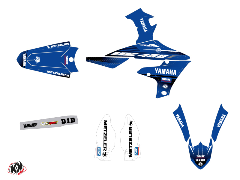 Kit Déco Moto Cross Basik Yamaha 450 YZF Bleu LIGHT