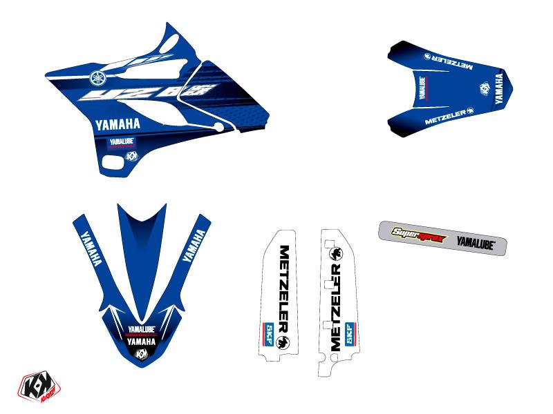 Yamaha 85 YZ Dirt Bike Basik Graphic Kit Blue LIGHT