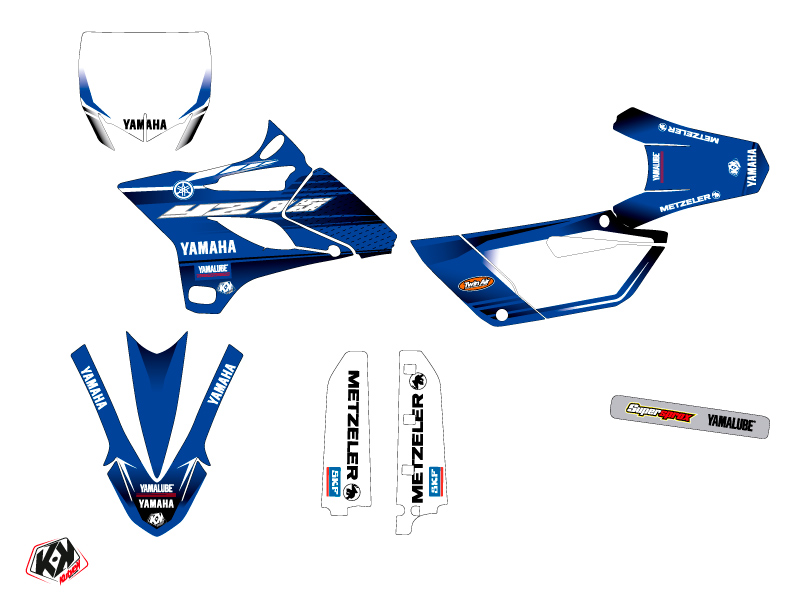 Yamaha 85 YZ Dirt Bike Basik Graphic Kit Blue