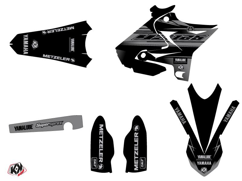 Kit Déco Moto Cross Black Matte Yamaha 125 YZ UFO Relift Noir LIGHT