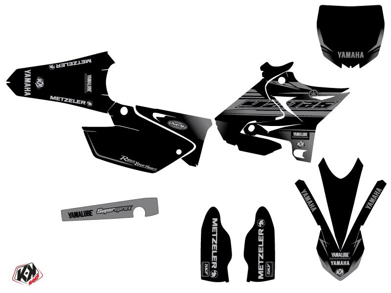 Kit Déco Moto Cross Black Matte Yamaha 125 YZ UFO Relift Noir