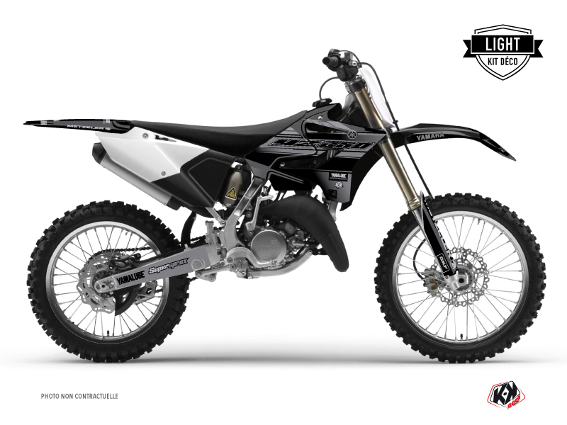 Yamaha 250 YZ Dirt Bike Black Matte Graphic Kit Black LIGHT