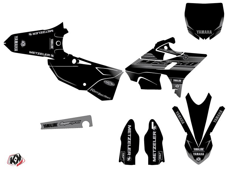 Kit Déco Moto Cross Black Matte Yamaha 250 YZ RTECH Revolution Noir