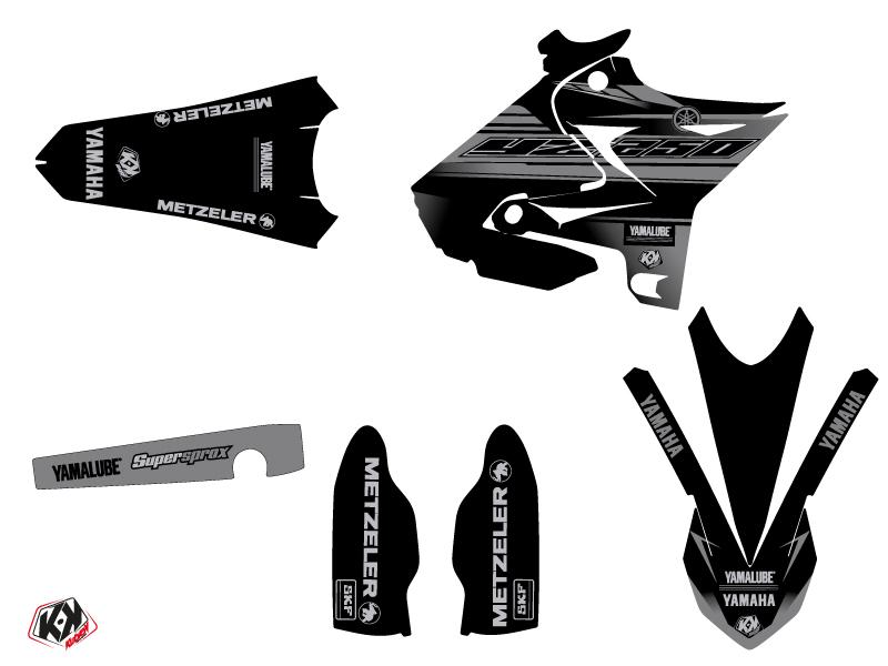 Kit Déco Moto Cross Black Matte Yamaha 250 YZ UFO Relift Noir LIGHT