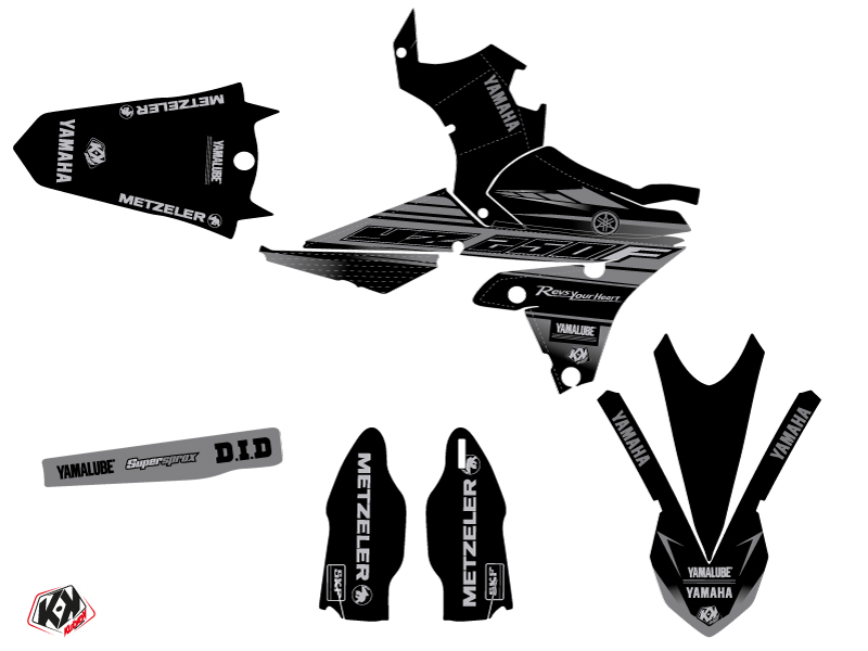 Kit Déco Moto Cross Black Matte Yamaha 250 YZF Noir LIGHT