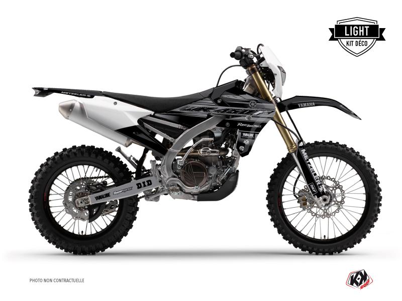 Yamaha 450 WRF Dirt Bike Black Matte Graphic Kit Black LIGHT