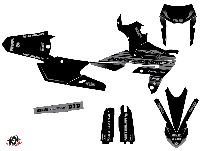 Yamaha 450 WRF Dirt Bike Black Matte Graphic Kit Black