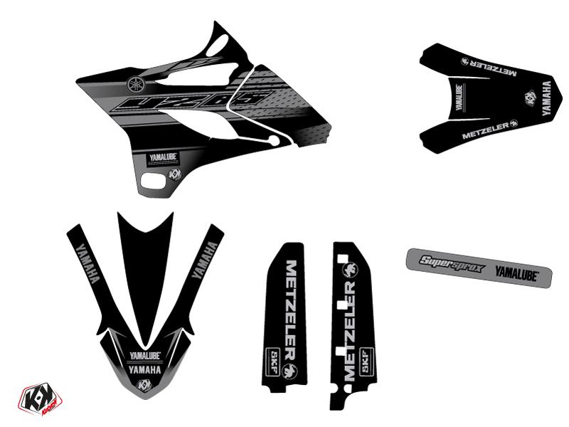 Yamaha 85 YZ Dirt Bike Black Matte Graphic Kit Black LIGHT