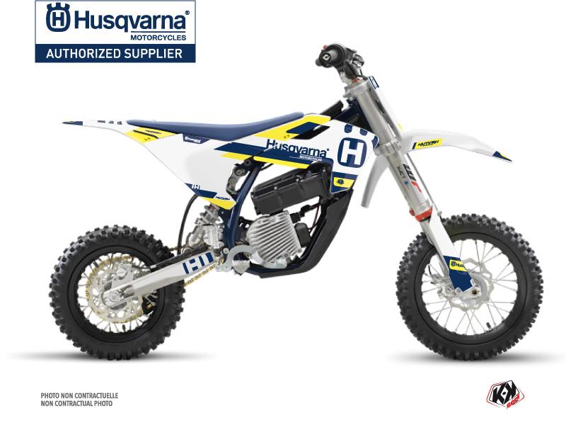 Husqvarna EE-5 Dirt Bike Block Graphic Kit Blue Yellow