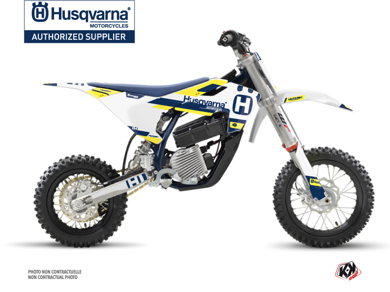 Kit Déco Moto Cross Block Husqvarna EE-5 Bleu Jaune