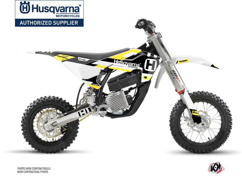 Husqvarna EE-5 Dirt Bike Block Graphic Kit Black Yellow