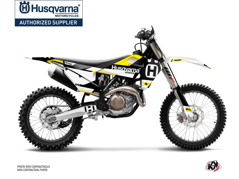 Husqvarna FC 450 Dirt Bike Block Graphic Kit Black Yellow