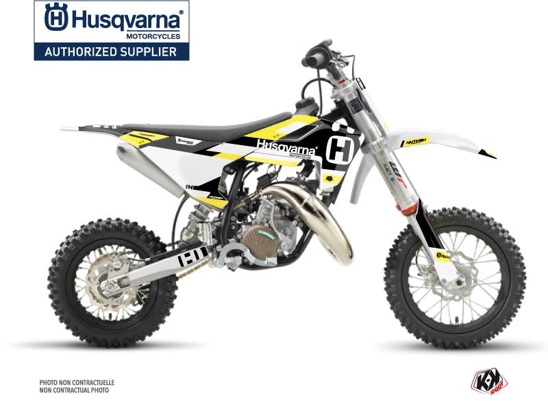 Husqvarna TC 50 Dirt Bike Block Graphic Kit Black Yellow