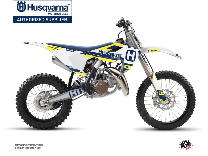 Husqvarna TC 85 Dirt Bike Block Graphic Kit Blue