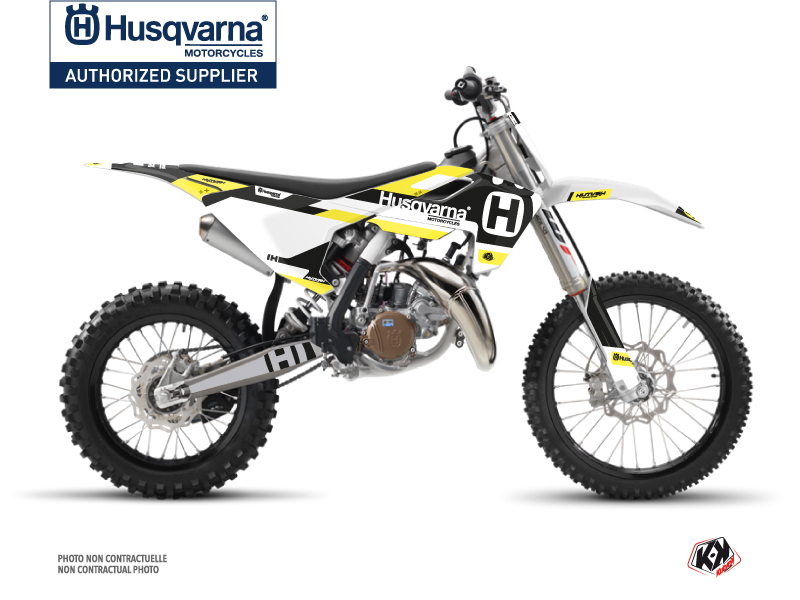 Husqvarna TC 85 Dirt Bike Block Graphic Kit Black Yellow