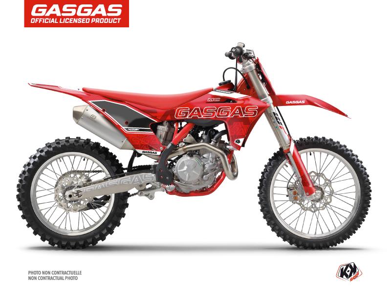GASGAS MC 125 Dirt Bike Border Graphic Kit Red