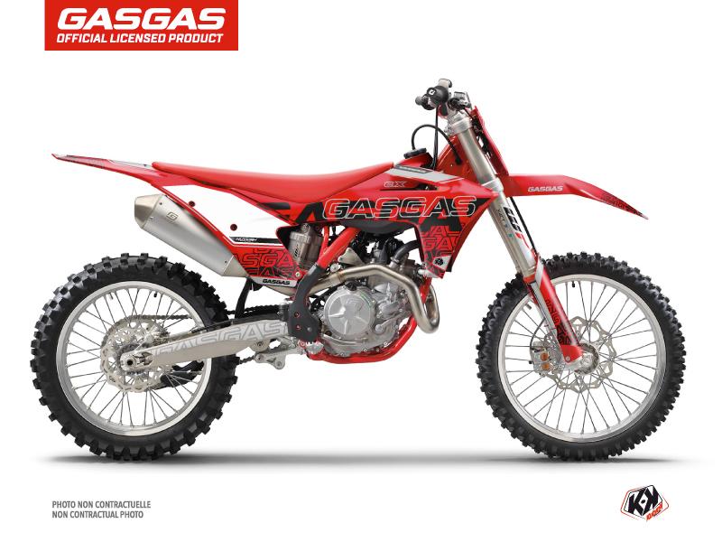 GASGAS EXF 350 Dirt Bike Border Graphic Kit Black