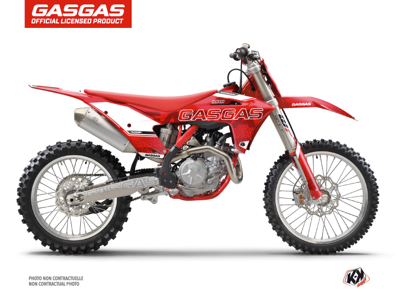 GASGAS MCF 450 Dirt Bike Border Graphic Kit Red