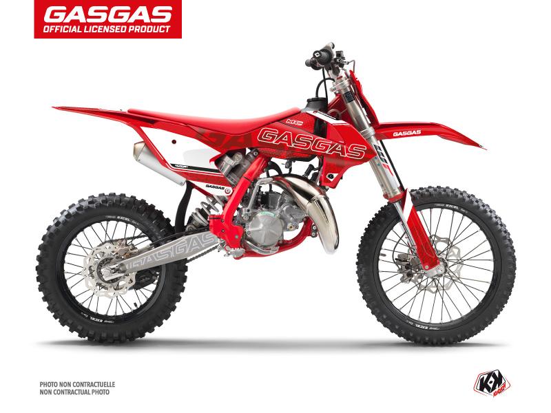 GASGAS MC 85 Dirt Bike Border Graphic Kit Red