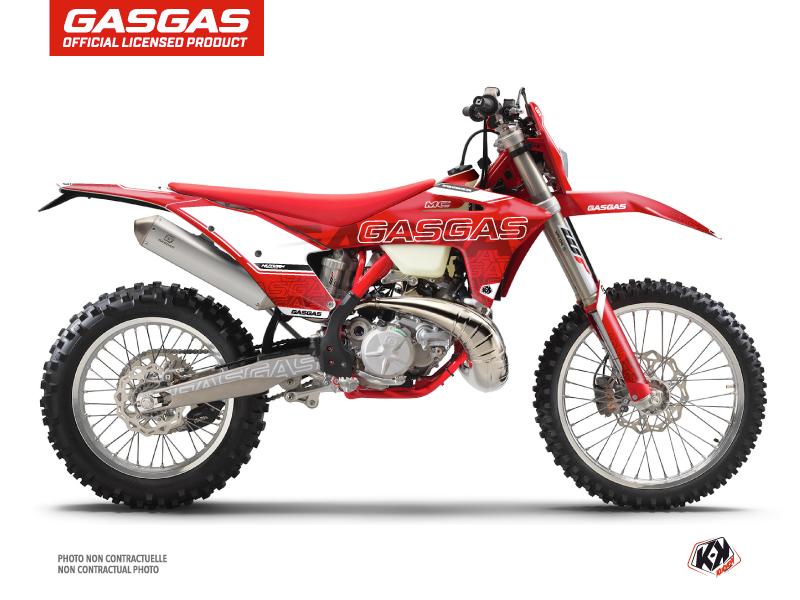 GASGAS ECF Dirt Bike Border Graphic Kit Red