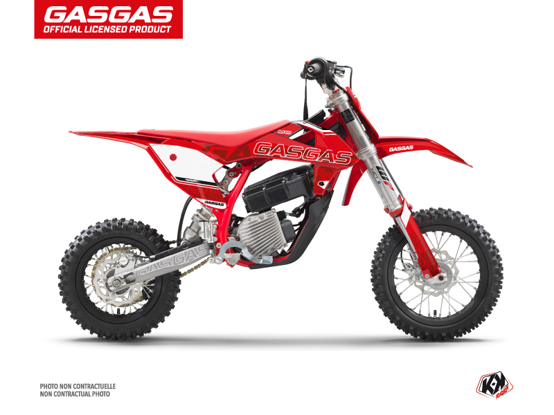 GASGAS MC-E 5 Dirt Border Flash Graphic Kit Red