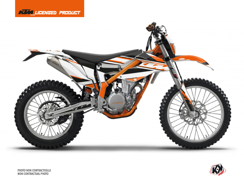 KTM 350 FREERIDE Dirt Bike Breakout Graphic Kit Orange White