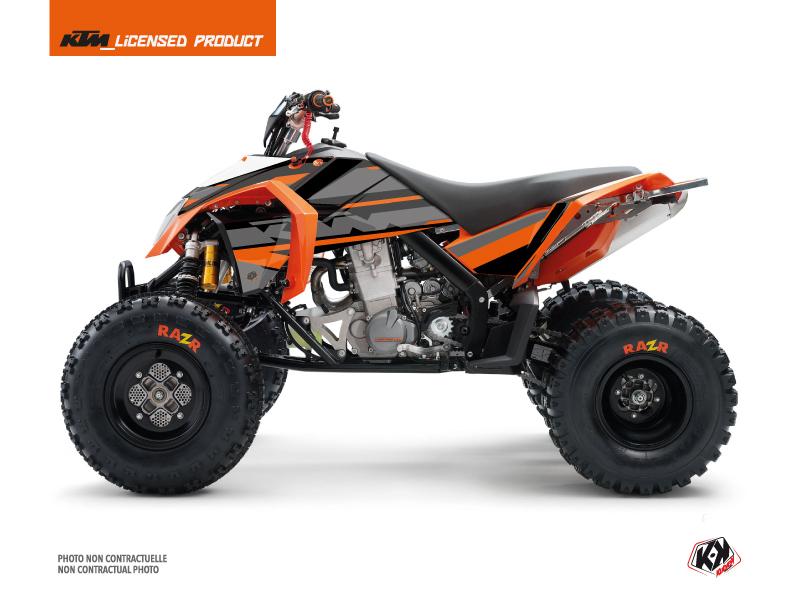KTM 450-525 SX ATV Breakout Graphic Kit Black Orange