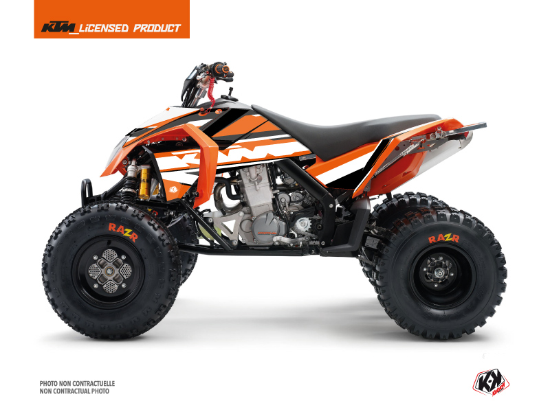 KTM 450-525 SX ATV Breakout Graphic Kit Orange White