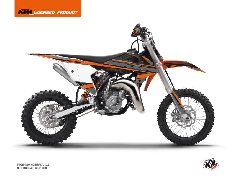 KTM 65 SX Dirt Bike Breakout Graphic Kit Black Orange