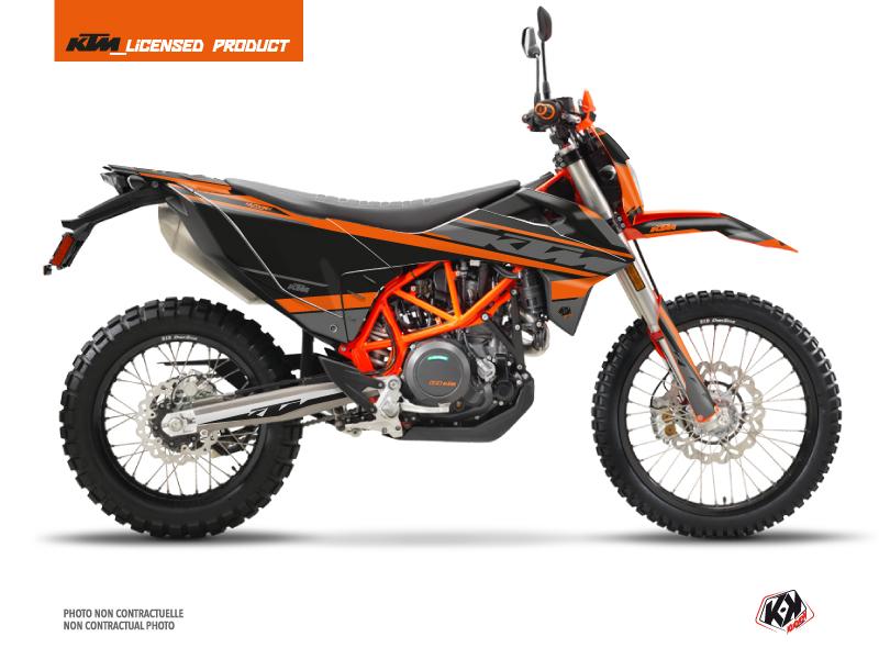 KTM 690 ENDURO R Street Bike Breakout Graphic Kit Black Orange