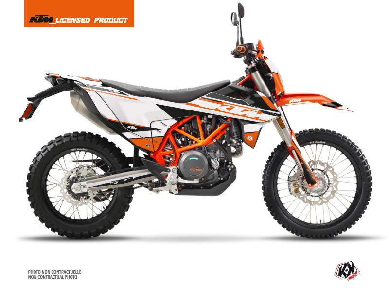 KTM 690 ENDURO R Dirt Bike Breakout Graphic Kit Orange White