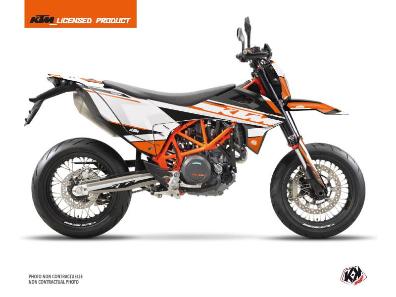 Kit Déco Moto Breakout KTM 690 SMC R Orange Blanc
