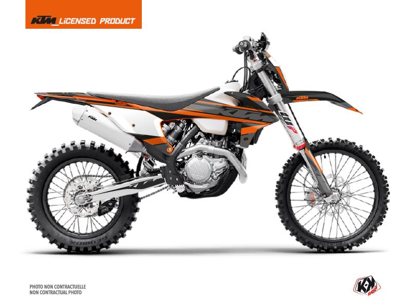 KTM EXC-EXCF Dirt Bike Breakout Graphic Kit Black Orange