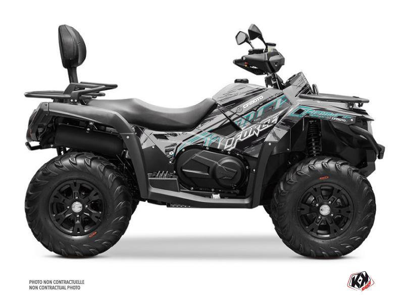CF MOTO CFORCE 600 ATV Brush Graphic Kit Grey
