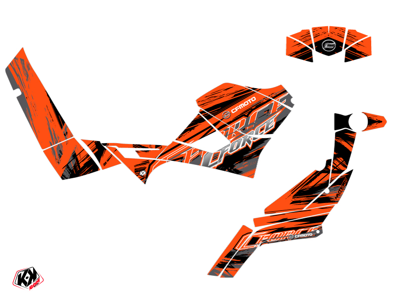 CF MOTO CFORCE 600 ATV Brush Graphic Kit Orange