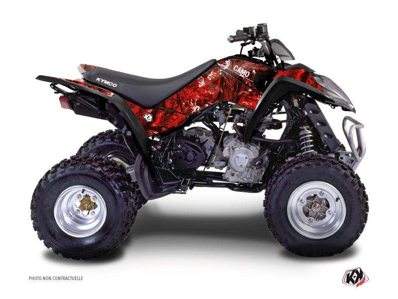 Kymco 250 MAXXER ATV Camo Graphic Kit Red