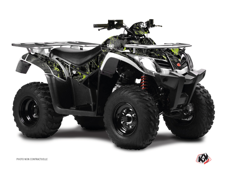 Kymco 300 MXU ATV Camo Graphic Kit Black Green
