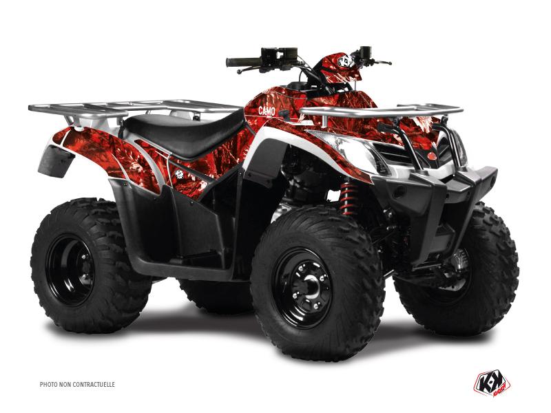 Kymco 250 MXU ATV Camo Graphic Kit Red