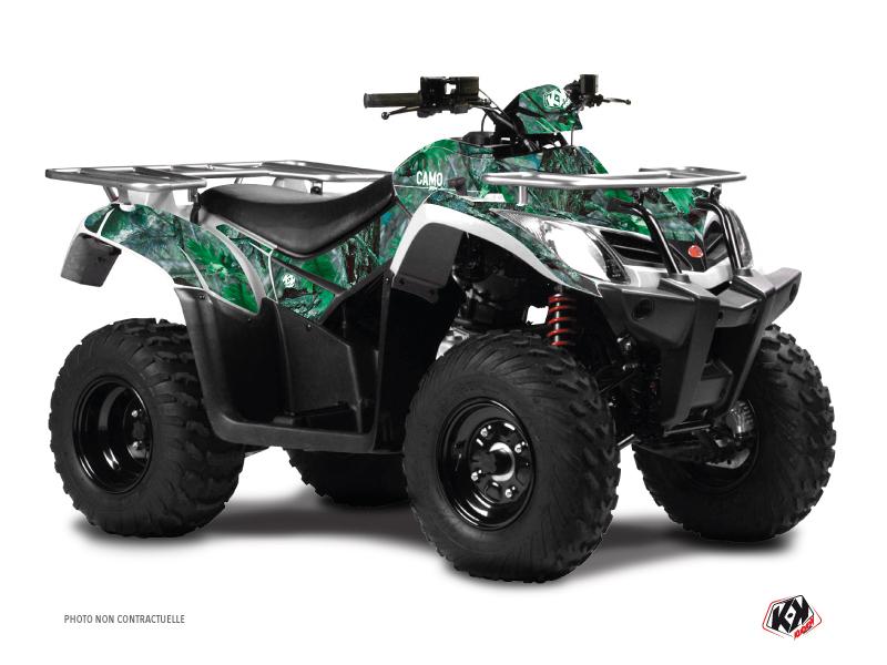 Kymco 250 MXU ATV Camo Graphic Kit Green