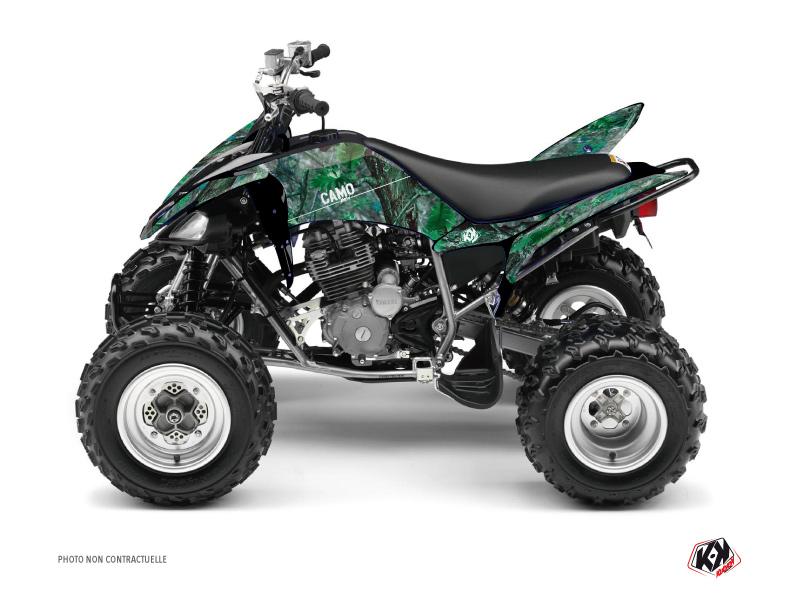 Yamaha 250 Raptor ATV Camo Graphic Kit Green