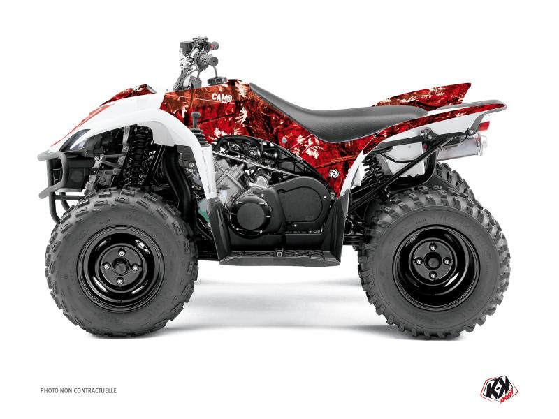 Yamaha 350-450 Wolverine ATV Camo Graphic Kit Red