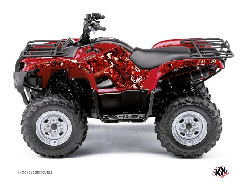 Yamaha 350 Grizzly ATV Camo Graphic Kit Red