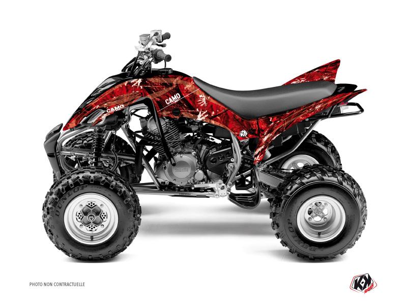 Yamaha 350 Raptor ATV Camo Graphic Kit Red