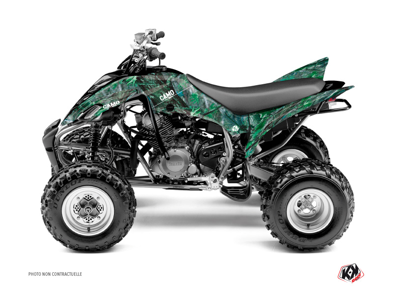 Yamaha 350 Raptor ATV Camo Graphic Kit Green
