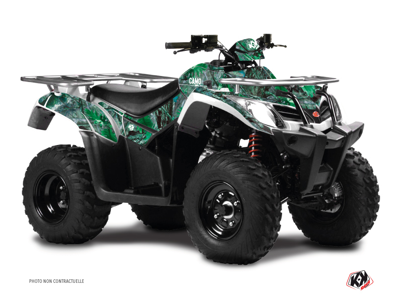 Kymco 400 MXU ATV Camo Graphic Kit Green